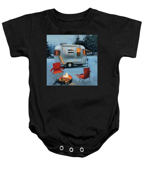 Christmas In The Snow Baby Onesie