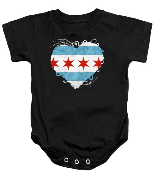 City Of Chicago Flag Baby Onesie
