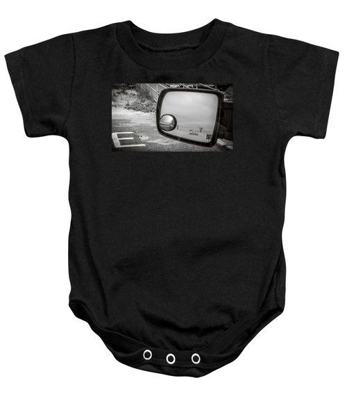 Cloudy Day Reflection Baby Onesie