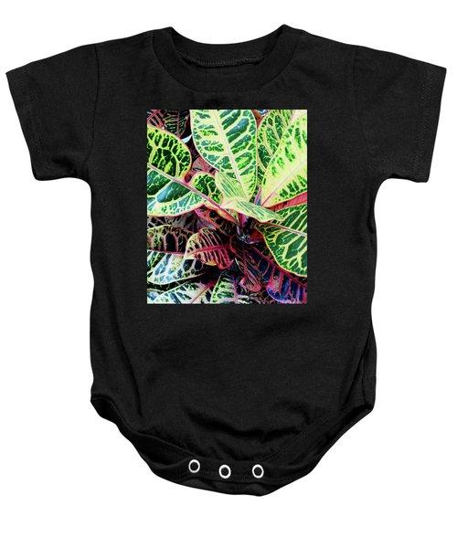 Colorful - Croton - Plant Baby Onesie