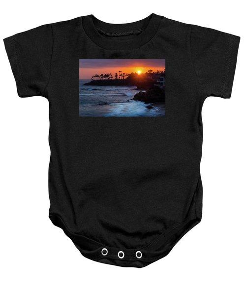 Colorful Laguna Beach Sunset Baby Onesie