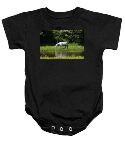 Cumbria. Ulverston. Horse By The Canal Baby Onesie