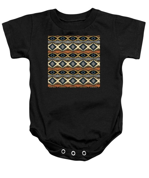 Diamond And Eye Motif With Leopard Accent Baby Onesie