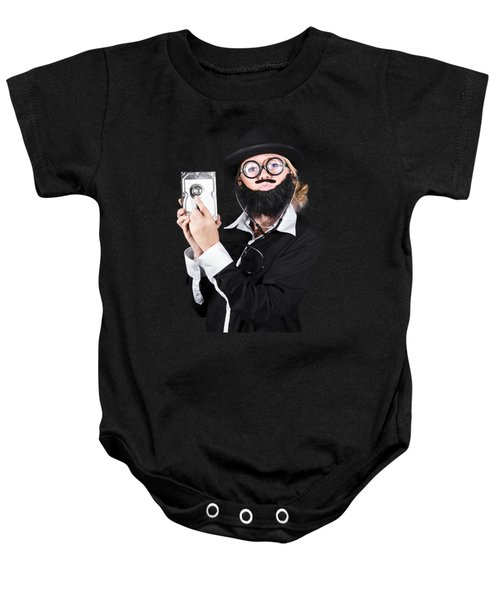 Baby Onesie featuring the photograph Doctor Examining Hard Drive by Jorgo Photography - Wall Art Gallery