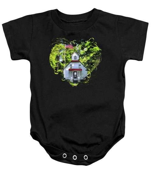 Door County Baileys Harbor Upper Range Lighthouse Baby Onesie