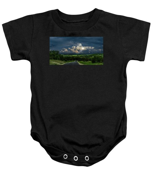 Down Hill From Here Baby Onesie