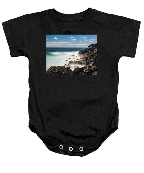 Dreamy Hawaiian Coastline Baby Onesie