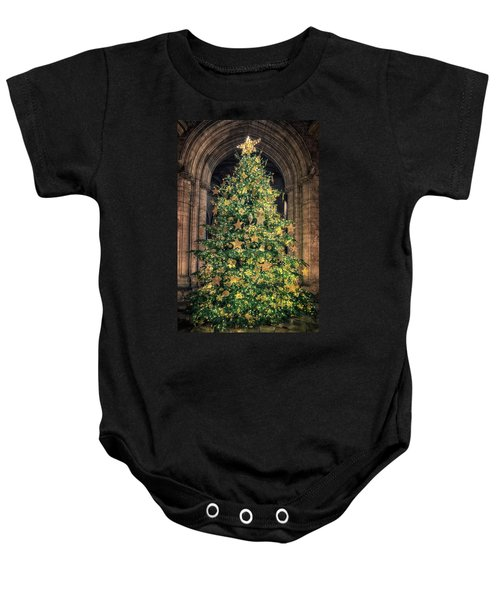 Ely Cathedral Christmas Tree 2018 Baby Onesie