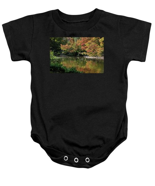 Fall At The Japanese Garden Baby Onesie