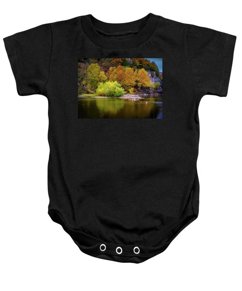 Fall Colors Of The Ozarks Baby Onesie
