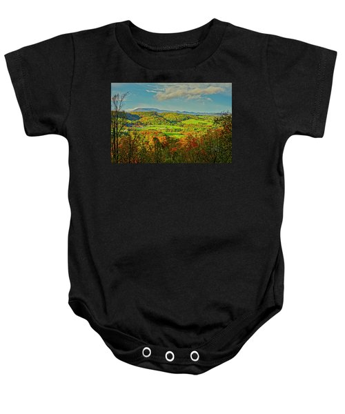 Fall Porch View Baby Onesie
