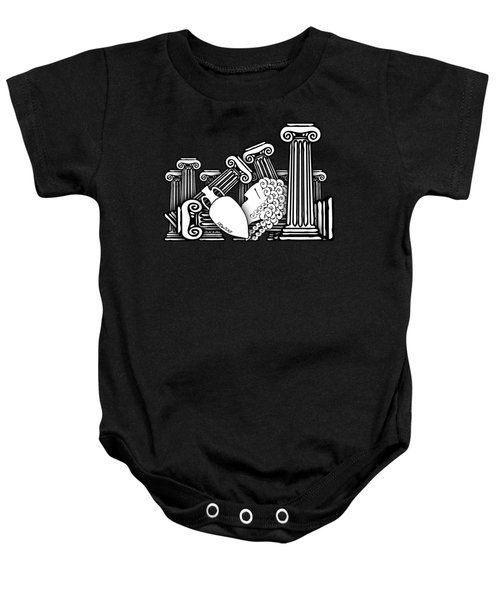 Falling Ancient Greece  Baby Onesie