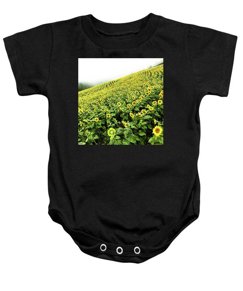 Baby Onesie featuring the photograph Fields Of Yellow by Shane Kelly