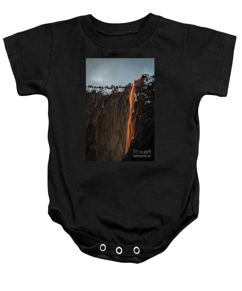 Baby Onesie featuring the photograph Fire Falls by Vincent Bonafede