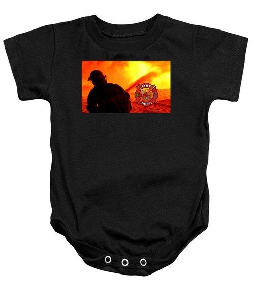 Fire Fighting 6 Baby Onesie