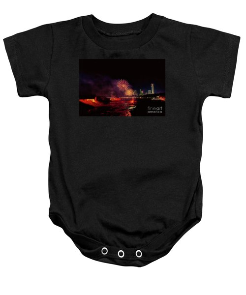 Fireworks Over The Falls. Baby Onesie