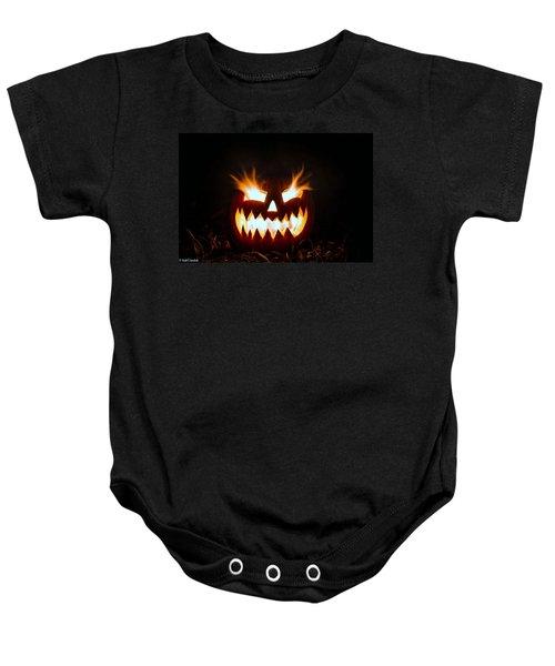 Flaming Pumpkin Baby Onesie