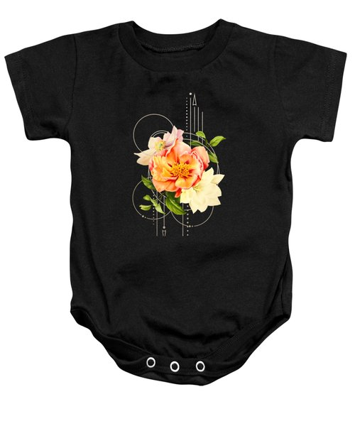 Floral Abstraction Baby Onesie