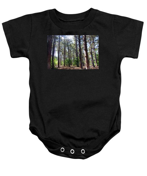 Formby. Woodland By The Coast Baby Onesie