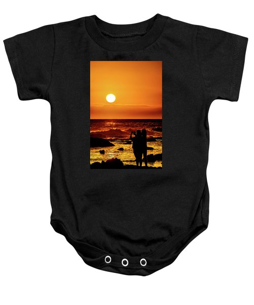 Baby Onesie featuring the photograph Friends Enjoying The View by John Bauer