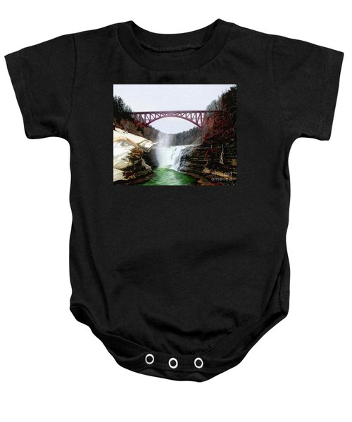 Frletchworth Railroad And Falls Baby Onesie