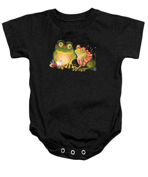 Frogs Overlay  Baby Onesie