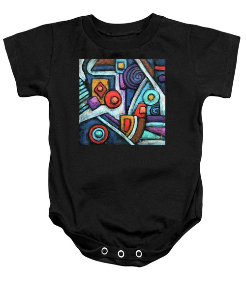 Geometric Abstract 4 Baby Onesie