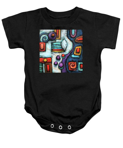 Geometric Abstract 5 Baby Onesie
