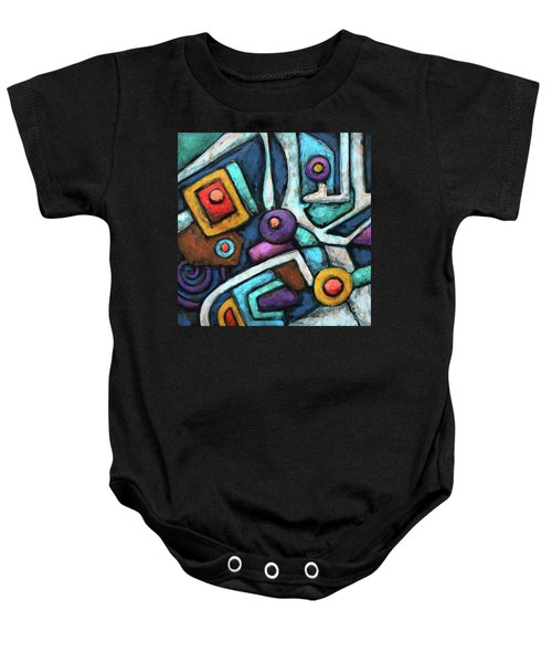 Geometric Abstract 6 Baby Onesie