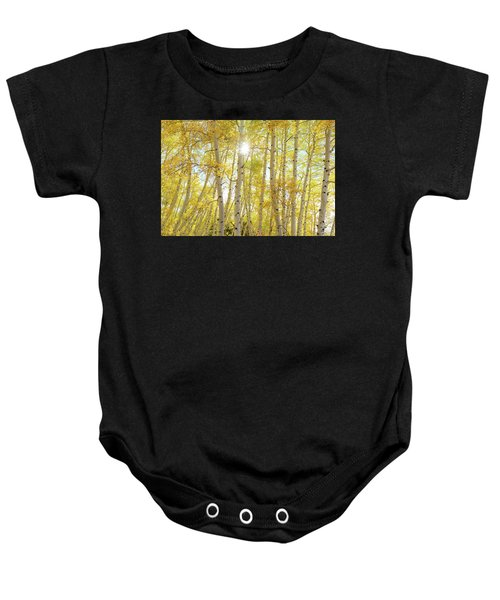Baby Onesie featuring the photograph Golden Sunshine On An Autumn Day by James BO Insogna