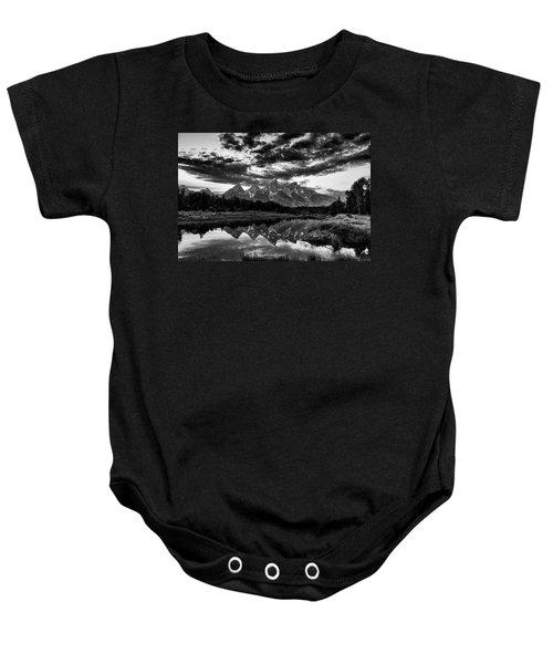 Grand Tetons, Wyoming Baby Onesie