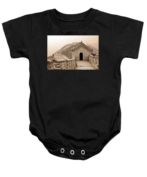 Great Wall Of China Baby Onesie