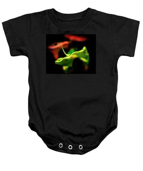 Green Croton Baby Onesie