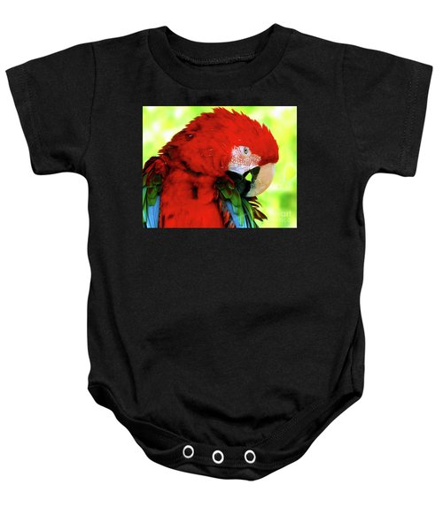 Green-winged Macaw Baby Onesie