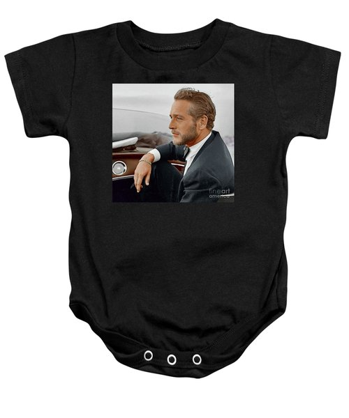 Hand Colored Picture Of Paul Newman Baby Onesie