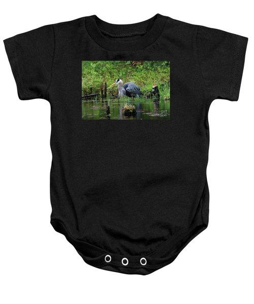 Heron In Beaver Pond Baby Onesie