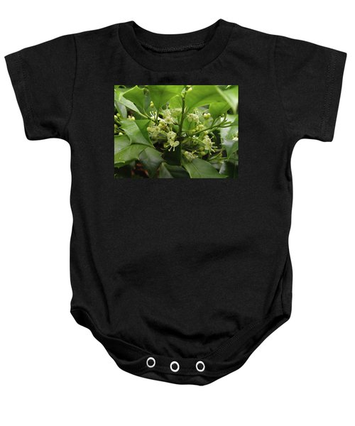 Holly Blossoms Baby Onesie