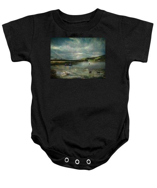 Idyllic Swans Lake Baby Onesie