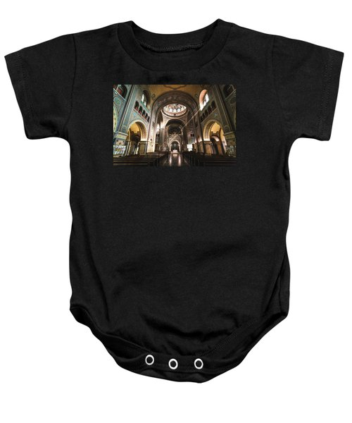 Interior Of The Votive Cathedral, Szeged, Hungary Baby Onesie
