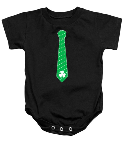 Irish St Patricks Tie Baby Onesie
