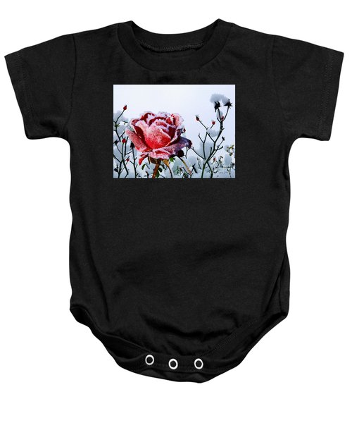Baby Onesie featuring the mixed media Jack Frost by Morag Bates