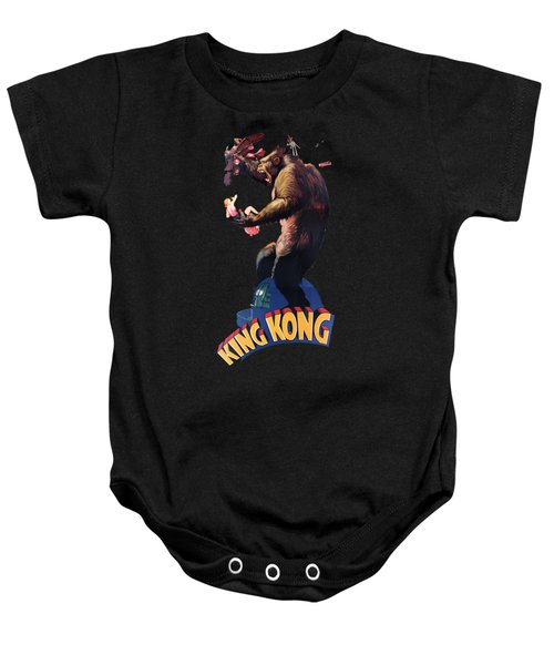 King Kong Retro Movie Poster Baby Onesie