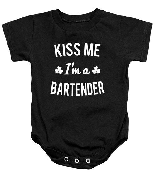Kiss Me Im A Bartender Baby Onesie