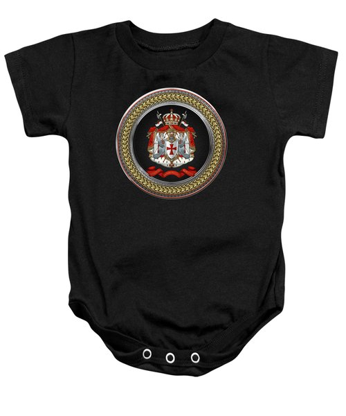 Knights Templar - Coat Of Arms Special Edition Over Black Leather Baby Onesie