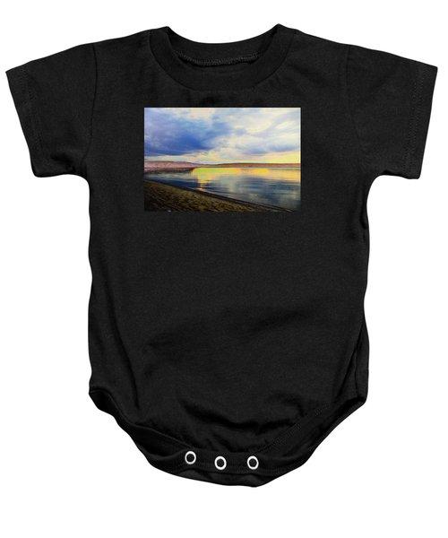 Lake Superior Sunset Baby Onesie
