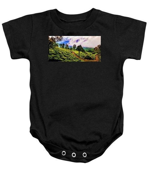 Green Landscape Baby Onesie