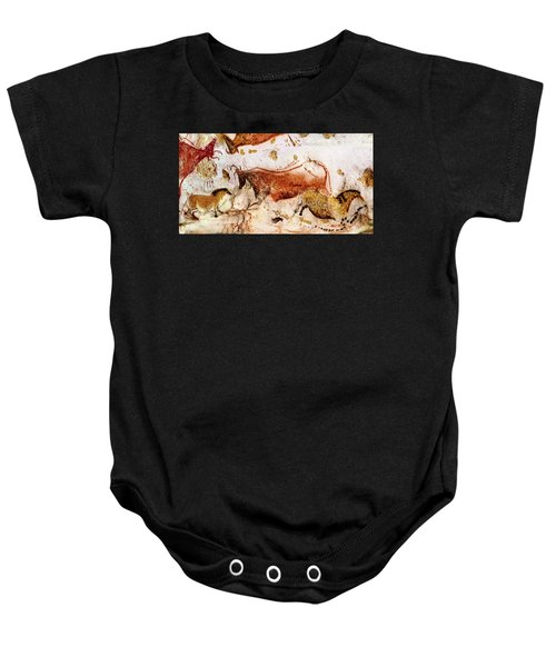 Lascaux Cow And Horses Baby Onesie
