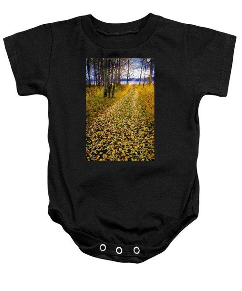 Leaves On Trail Baby Onesie