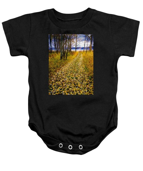 Leaves On Trail Baby Onesie