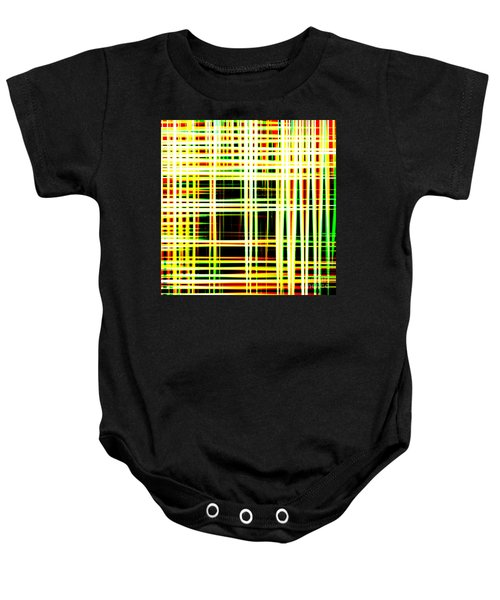 Lines And Squares In Color Waves - Plb418 Baby Onesie